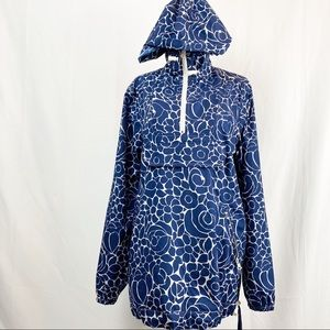 Boden Jacket Windbreaker Floral 1/2 Half Zip Sz 6